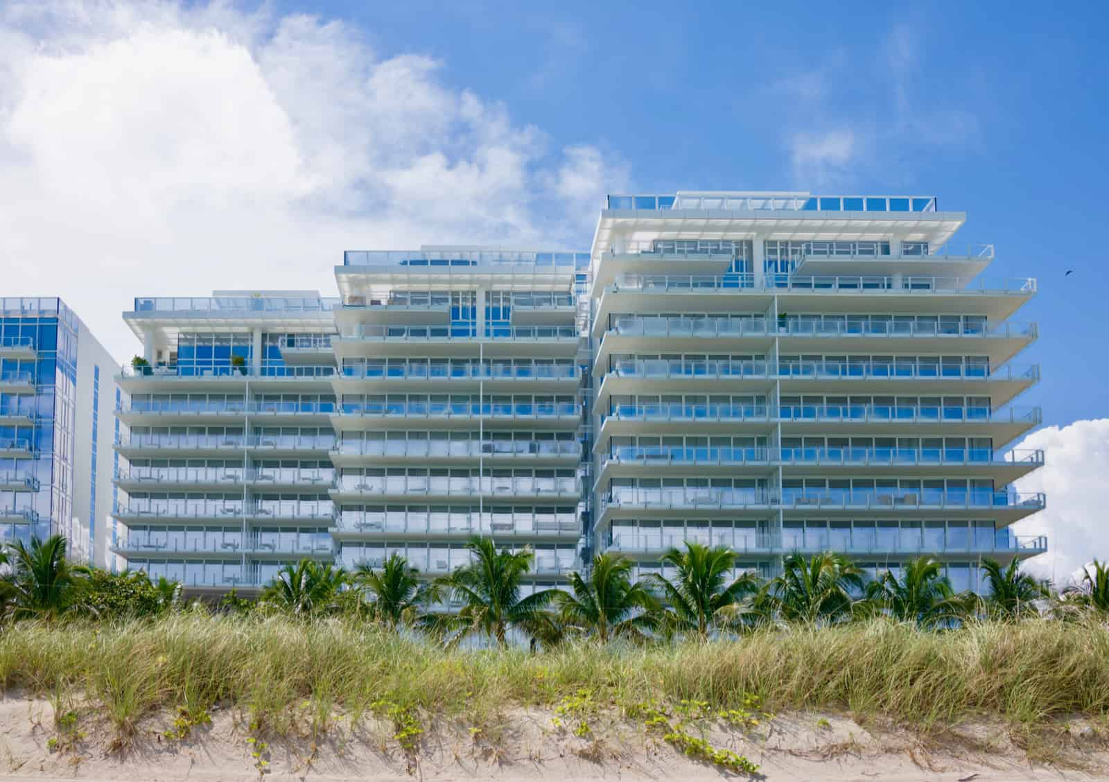 Outside view of the Four Seasons Surf Club from the beach